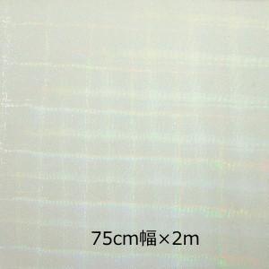 透明 ホログラムシート  ビットスクエアー(無色) 30cm幅×2m ロール|d-inform