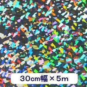 ホログラムシート クリスタル(シルバー) 30cm幅×5m ロール|d-inform