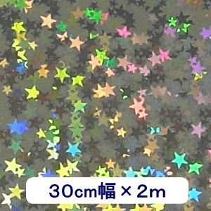 ホログラムシート リトルスター(シルバー) 30cm幅×2m ロール|d-inform