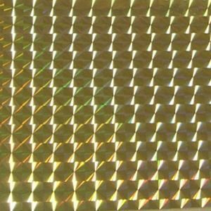 ホログラムシート 1/2プリズム ゴールド(シールタイプ)|d-inform