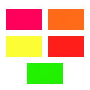 蛍光紙 蛍光カラーシート選べる5色|d-inform