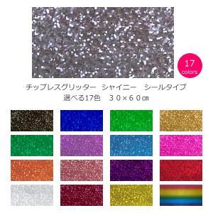 チップレスグリッター シャイニー 選べる17色 30cm×60cm(大判サイズ)|d-inform