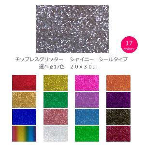 チップレスグリッター シャイニー 選べる17色 20cm×30cm(約A4サイズ)|d-inform