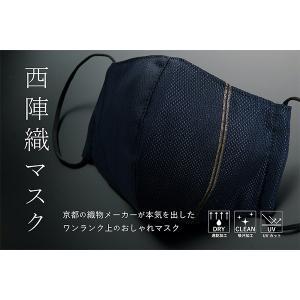 〈西陣織マスク〉Gold Line (navy blue)-[IN]day2【YHO】_C201130600016|d-kintetsu-ec