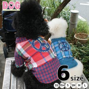 ドッグウェア D・O・G デニムアップリケ フリンジチェックシャツ d-o-gshop
