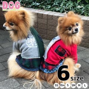 ドッグウェア D・O・G センター切替 チェック 星柄 デニム セパレートチェックトレーナー d-o-gshop