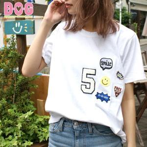 ドッグウェア D・O・G メンズ レディース ユニセックス オーナー用 ワッペン ワッペンTシャツ(...