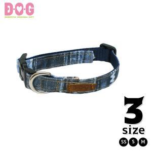 ドッグカラー D・O・G 防水デニムプリントカラー(SSサイズ) d-o-gshop