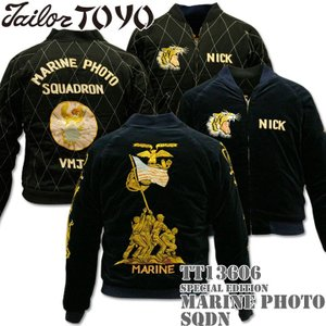 港商商会 TAILOR TOYO テーラー東洋 SPECIAL EDITION SOUVENIR JACKET MARINE PHOTO SQDN. TT13606-128|d-park