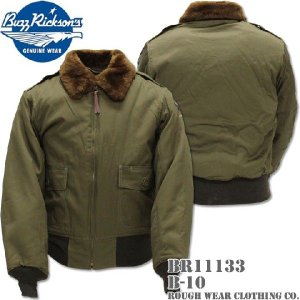 BUZZ RICKSON'S バズリクソンズ フライトジャケット B-10 ROUGH WEAR CLOTHING CO. BR11133 OLIVE DRAB|d-park