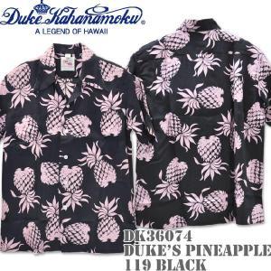 Duke Kahanamoku デューク カハナモク アロハシャツ DK36201 SPECIAL EDITION DUKE'S PINEAPPLE Black|d-park