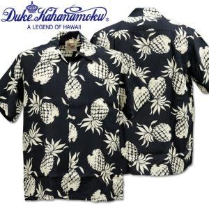 Duke Kahanamoku デューク カハナモク アロハシャツ SPECIAL EDITION DUKE'S PINEAPPLE DK36201-128 Navy|d-park