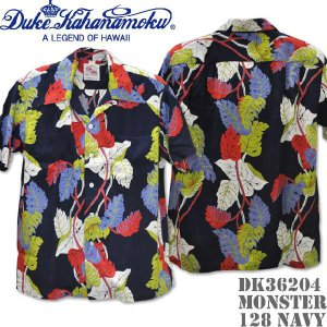 Duke Kahanamoku デューク カハナモク アロハシャツ DK36203 SPECIAL EDITION MONSTTERA Navy|d-park