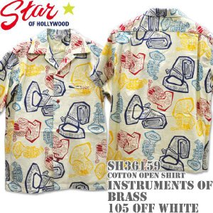 Star OF HOLLYWOOD(スターオブハリウッド)Open Shirt【INSTRUMENTS OF BRASS】SH36159-105 Off White d-park