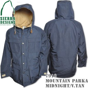 SIERRA DESIGNS シエラデザインズ MOUNTAIN PARKA マウンテンパーカー 7910 Midnight/V.tan|d-park