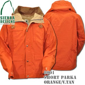 SIERRA DESIGNS シエラデザインズ SHORT PARKA ショートパーカー 8001 Orange/V.tan|d-park