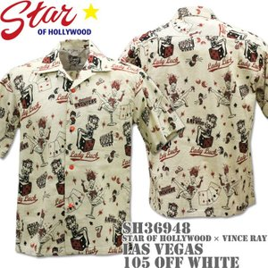 Star OF HOLLYWOOD x VINCE RAY スターオブハリウッドxヴィンス・レイ Open Shirt LAS VEGAS SH36948-105 Off White|d-park