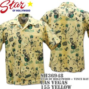 Star OF HOLLYWOOD × VINCE RAY(スターオブハリウッド×ヴィンス・レイ)Open Shirt『LAS VEGAS』SH36948-155 Yellow d-park