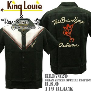 BRIAN SETZER ORCHESTRA × KING LOUIE(ブライアン・セッツァー×キングルイ)SPECIAL EDITION BOWLING SHIRTS B.S.O KL37020-119 Black|d-park
