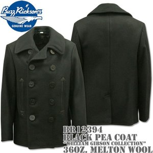 BUZZ RICKSON'S バズリクソンズ Type BLACK PEA COAT 36oz Wool WILLIAM GIBSON COLLECTION BR12394|d-park