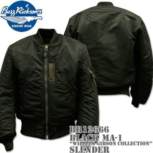 BUZZ RICKSON'S バズリクソンズ BLACK MA-1 SLENDER WILLIAM GIBSON COLLECTION BR12666|d-park