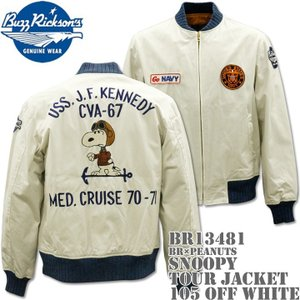 BUZZ RICKSON'S(バズリクソンズ)スヌーピーコラボ BR×PEANUTS『SNOOPY TOUR JACKET』BR13481-105 Off White|d-park