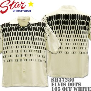 Star OF HOLLYWOOD スターオブハリウッド Open Shirt ELVIS DOTS SH37280-105 Off White|d-park