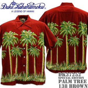 Duke Kahanamoku デューク カハナモク アロハシャツ HAWAIIAN SHIRT SPECIAL EDITION / PALM TREE DK37252-138 Brown|d-park