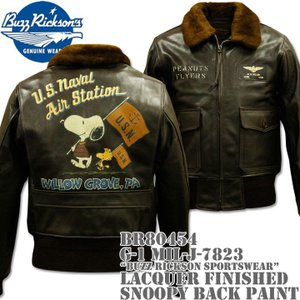 BUZZ RICKSON'S(バズリクソンズ)G-1 MIL-J-7823『BUZZ RICKSON SPORTSWEAR』LACQUER FINISHED SNOOPY BACK PAINT BR80454|d-park
