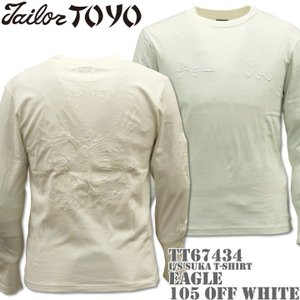 テーラー東洋 TAILOR TOYO ロングスリーブ Tシャツ L/S SUKA T-SHIRT EAGLE TT67434-105 Off White|d-park