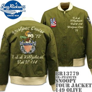 BUZZ RICKSON'S(バズリクソンズ)スヌーピーコラボ BR×PEANUTS『SNOOPY TOUR JACKET』BR13779-149 Olive|d-park