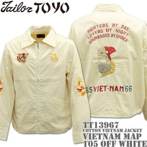 テーラー東洋 TAILOR TOYO ベトナムジャケット COTTON VIETNAM JACKET VIETNAM MAP TT13976-105 Off White|d-park