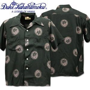 Duke Kahanamoku デューク カハナモク アロハシャツ HAWAIIAN SHIRT SPECIAL EDITION / WONDROUS PALM TREE DK37856-119 Black|d-park