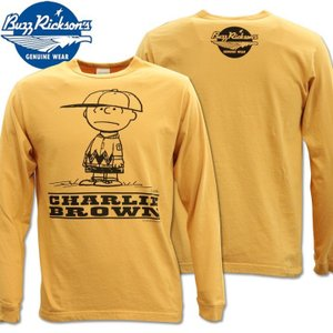 BUZZ RICKSON'S バズリクソンズ スヌーピーコラボTシャツ BRxPEANUTS RINGER TEE CHARLIE BROWN BR68124-159 Orange|d-park