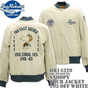 BUZZ RICKSON'S(バズリクソンズ)スヌーピーコラボ BR×PEANUTS『SNOOPY TOUR JACKET』BR14329-105 Off White d-park