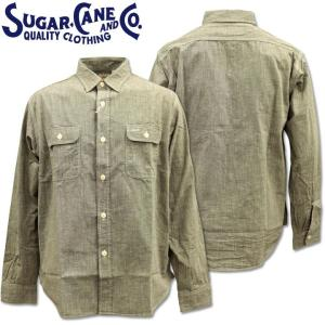 Sugar Cane ( シュガーケーン ) PIN CHECK L/S WORK SHIRT SC28094-119 Black d-park