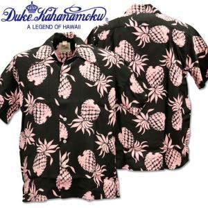 Duke Kahanamoku デューク カハナモク アロハシャツ SPECIAL EDITION DUKE'S PINEAPPLE DK36201-219 Black|d-park