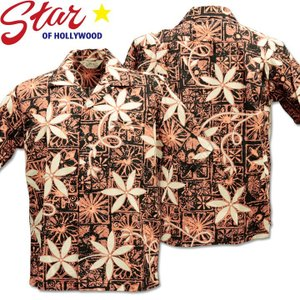 Star OF HOLLYWOOD スターオブハリウッド B/C Open Shirt BLUE HAWAII SH38118-119 Black|d-park