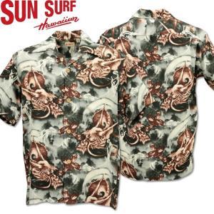 SUN SURF ( サンサーフ ) アロハシャツ HAWAIIAN SHIRT 『 DRAGON GOES ON A CRUISE 』 SS38047-119 Black|d-park