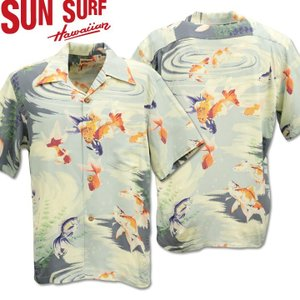 SUN SURF サンサーフ アロハシャツ HAWAIIAN SHIRT GOLD FISH SS38027-115 Gray|d-park