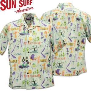 SUN SURF ( サンサーフ ) OPEN SHIRT 『 HULA FESTA by SHAG 』 SS38189-105 Off White|d-park