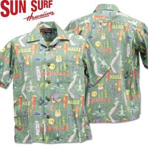 SUN SURF ( サンサーフ ) OPEN SHIRT 『 HULA FESTA by SHAG 』 SS38189-119 Black|d-park