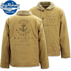 BUZZ RICKSON'S バズリクソンズ N-1 DECK JACKET Khaki NAVY DEPARTMENT SS-317 BERBERO BR14549|d-park