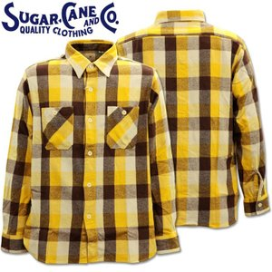 Sugar Cane(シュガーケーン)TWILL CHECK L/S WORK SHIRT SC28236-155 Yellow|d-park