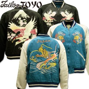 【港商商会】TAILOR TOYO(テーラー東洋)SPECIAL EDITION SOUVENIR JACKET 『DRAGON × EAGLE PRINT』TT14633-125 Navy/Black|d-park