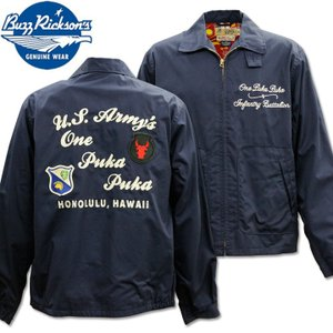 BUZZ RICKSON'S(バズリクソンズ)CLUB JACKET『ONE PUKAPUKA』BR14619-128 Navy|d-park