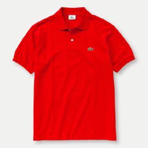 【正規品】LACOSTE(ラコステ)半袖リブカラーシャツ ルージユ L1212X 256|d-park