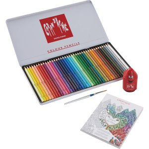 ピカソも愛用した「カランダッシュ」の大人の塗り絵セットです。 水溶性色鉛筆は描いた後、水を含んだ筆や...