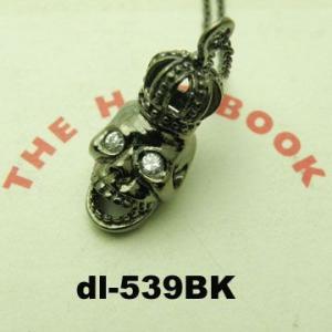レディースピアス ジルコニア クラウン髑髏ネックレス DL-539 オープン記念 セール|d-plus-genius|05