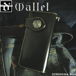 【エントリーでポイント10倍】財布 メンズ かっこいい レザーウォレット サドルレザーロングウォレット/牛革/長財布/ブラック オープン記念 セール|d-plus-genius